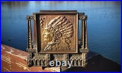 1920 Brass/Bronze Original JUDD USA Native American War Chief Letter Book Holder