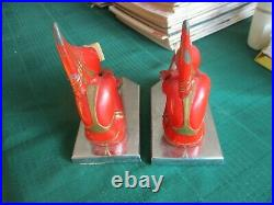 1920s FUGERE H B HIRSCH PIXIE BOOKENDS ART DECO STYLE COLD PAINT FRENCH DECOR