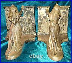 1924 ART DECO RONSON EGYPTIAN REVIVAL Queen of the Nile BOOKENDS