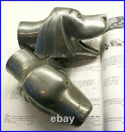 1930s Vintage car mascots/exhaust finishers ART DECO / CHRISTIE'S / book ends
