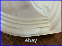 1936 Owens Illinois Glass Art Deco Frosted Glass Gazelle Bookends by E W Fuerst
