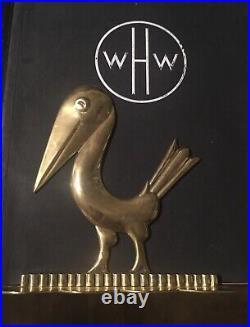 2 Buchstützen Bookends metall Hagenauer Art Deco Jugendstil