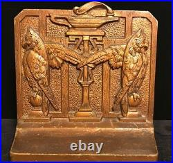 ANTIQUE ART DECO EGYPTIAN REVIVAL SIGNED JUDD 1920s OWL BRONZE BOOKENDS 9658