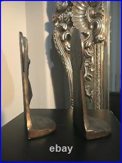 ANTIQUE Female NUDE LADY ART DECO STATUE SCULPTURE Bronze BOOKENDS law justice