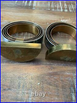ART DECO CHASECOPPER BRASS ARCHITECTURAL RING SCULPTURE BOOKENDS Jere
