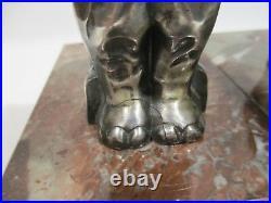 Ancien Serre Livre Art Deco H Moreau Elephants Sculpture Animaliere Bookends