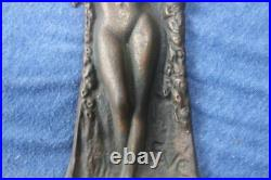 Antique 1925 Verona Bronzed Nude Bookends, Pin Up, Art Deco