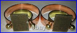 Antique Art Deco Chase Copper Brass Architectural Ring Statue Sculpture Bookends