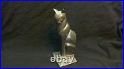 Antique Art Deco Gold Silver Frankart Cat Cats Bookends