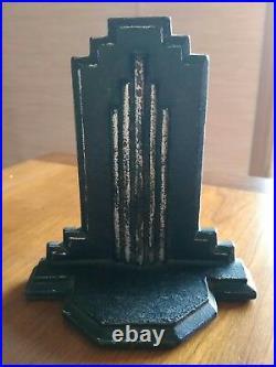 Antique Art Deco architecture skyscraper style Cast Iron Bookend