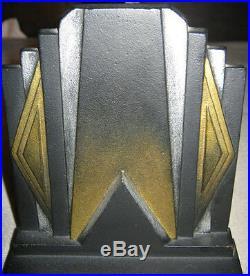 Antique B&h Industrial Art Deco Bradley Hubbard Cast Iron Building Desk Bookends