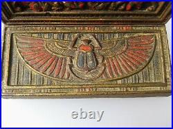 Antique CJO Judd Mfg. Bookends. Art Deco-Egyptian design