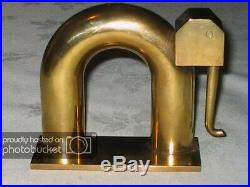 Antique Chase Modern Brass Elephant Bookends Art Deco Sculpture Statue Book Ends