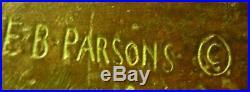 Antique E. B. Parsons Gorham Bronze Terrier Dog Art Deco Statue Sculpture Bookend