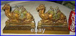 Antique Egyptian Revival C. J. O. Judd Camel Art Deco Statue Sculpture Bookends