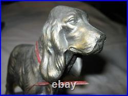 Antique Frankart American Art Deco USA Dog Statue Sculpture Metal Book Bookends