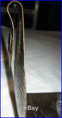 Antique Fred Brosi Arts Crafts Hammered Old Mission Copper Kopperkraft Bookends