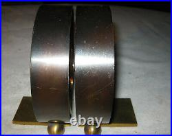 Antique Industrial Art Deco Chase Solid Brass & Copper Ring Book Tool Bookends