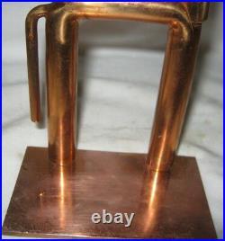 Antique Industrial Chase USA Art Deco Equestrian Copper Horse Book Desk Bookends