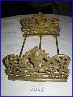 Antique Lady Art Nouveau Cast Iron Bust Bookends Holder Tool Rack Book Ends Deco