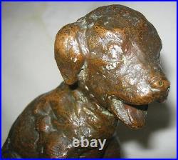 Antique Parsons Gorham Co Bronze Terrier Dog Art Deco Statue Sculpture Bookends