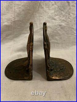 Antique Peacock Bookends, Bronze, 1920s Art Nouveau/Art Deco Heavy, Patina, EUC