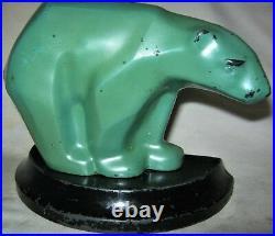 Antique Ronson USA Arctic Sea Ice Art Deco 1 Polar Bear Bookend Statue Doorstop