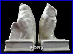 Antique Rookwood OWL Perched on a BOOK BOOK ENDS or PAPER WEIGHTS #2655. 1946