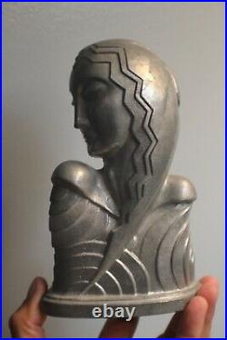 Art Deco A Abbot Schy Lady Bust Bookend