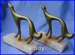 Art Deco Bronze Borzoi Bookends Frankart Style Dog