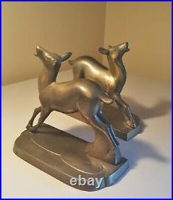 Art Deco Deer Bookends (Frankart Inc 1930s)