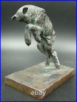 Art Deco French Bronze Figural Lamb Bookends Susse Freres Paris Paul Silvestre
