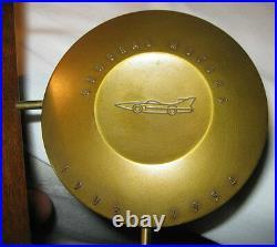 Art Deco General Motors 50 Million Bronze Medal Medallic Art Plaque Car Bookends