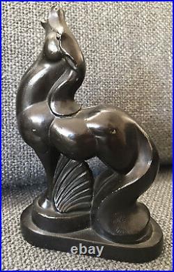 Art Deco, Horse Calling, NUART Bookends ca. 1934