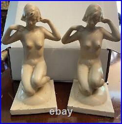 Art Deco Nude Bookends Bronze Art
