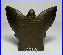 Art Deco PAIR BUTTERFLY GIRL METAL BOOKENDS RONSON