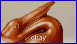 Art Deco Pair Cast Metal Pelican Bookends Copper Colour