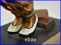 Art Deco Ronson Art Metal Works Bookends c. 1920s Chinese Boy & Girl Rare
