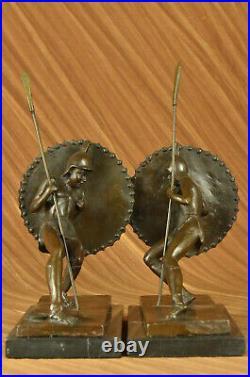 Art Deco Samurai Male Warrior Bookends Book Ends Bronze Sculpture Figurine DEAL