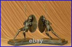 Art Deco Samurai Male Warrior Bookends Book Ends Bronze Sculpture Figurine Sale