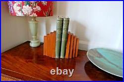 Art Deco Walnut Veneer Unique Book Ends