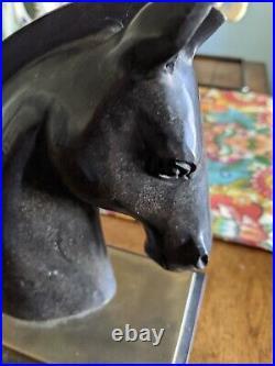 Bronze horse head, mid century modern / art deco style