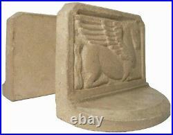 Early 20th C Art Deco Kneeling Pegasus Plstr (ancient Greek Bas-relief) Pr Bknds