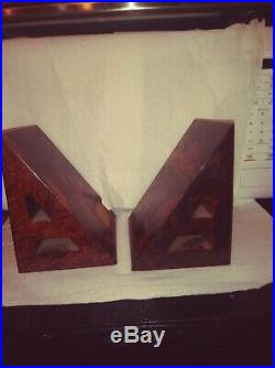 Extremely Rare Bakelite Art Deco Bookends Angular