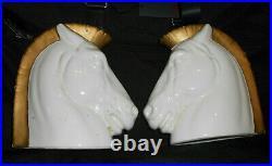 Extremely Rare Czech Art Deco Ceramic Horse Heads
