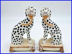 Fitz And Floyd Dalmation Bookends Porcelain MINT