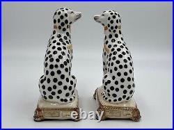 Fitz And Floyd Porcelain Dalmation Bookends