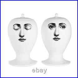 Fornasetti Buongiorno Buonanotte Ceramic Bookends White