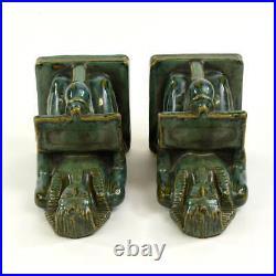 Fulper Pottery Ramses-pharaoh Bookends