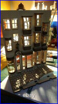 Harry Potter Diagon Alley Wooden Bookends Book Nook Building DIY KIT With Light